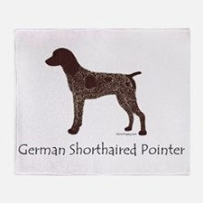 German Shorthaired Pointer Throw Blanket