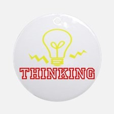 Thinking Ornament (Round)