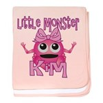Little Monster Kim baby blanket