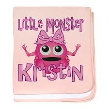 Little Monster Kristin baby blanket
