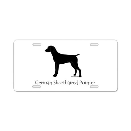 German Shorthaired Pointer Aluminum License Plate