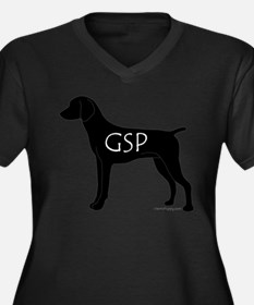 GSP Women's Plus Size V-Neck Dark T-Shirt