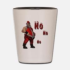 bad Santa Shot Glass