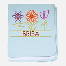 Brisa with cute flowers baby blanket