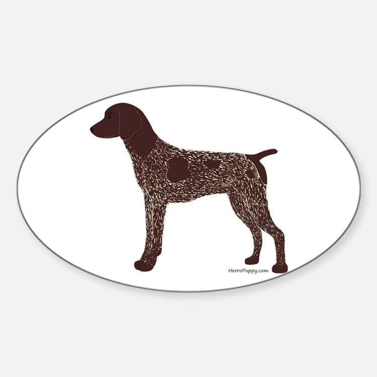 German Shorthaired Pointer Sticker (Oval)