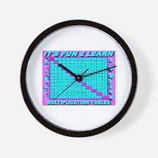 It's Fun To Learn Multiplicat Wall Clock