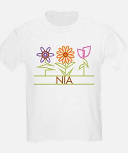 Nia with cute flowers T-Shirt