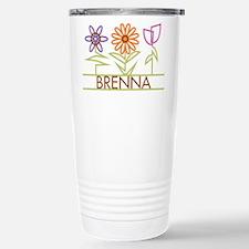 Brenna with cute flowers Travel Mug