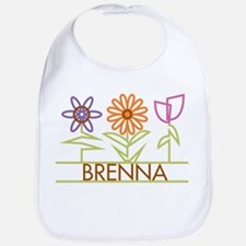 Brenna with cute flowers Bib