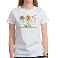 Sage with cute flowers Tee