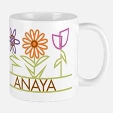 Anaya with cute flowers Mug