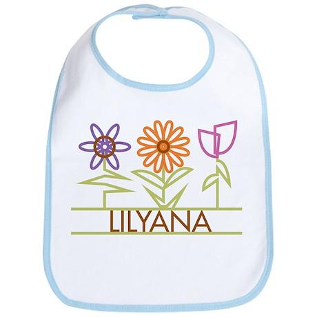 Lilyana with cute flowers Bib