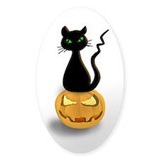 Black Cat & Pumpkin Halloween Decal
