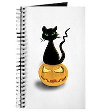 Black Cat & Pumpkin Halloween Journal
