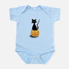 Black Cat & Pumpkin Halloween Infant Bodysuit