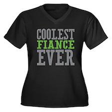 Coolest Fiance Women's Plus Size V-Neck Dark T-Shi