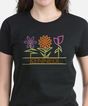 Kennedi with cute flowers Tee