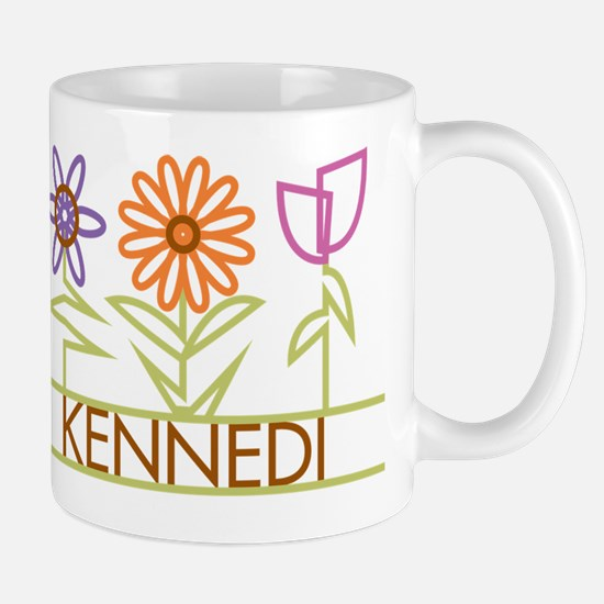Kennedi with cute flowers Mug