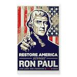 Ron Paul 2012 Sticker (Rectangle 10 pk)