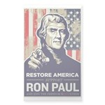 Ron Paul 2012 Sticker (Rectangle)