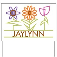 Jaylynn with cute flowers Yard Sign