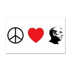 Peace Love Ron Paul Car Magnet 20 x 12