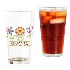Kimora with cute flowers Drinking Glass