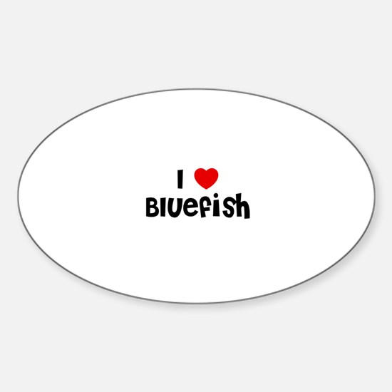 I * Bluefish Oval Decal