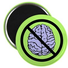 "Brain Not Found 2.25"" Magnet (10 pack)"