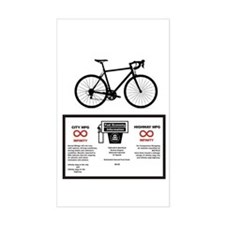 Bicycle Gas Mileage Decal