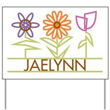 Jaelynn with cute flowers Yard Sign