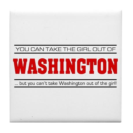 'Girl From Washington' Tile Coaster