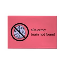 Brain Not Found Rectangle Magnet