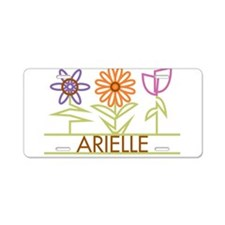 Arielle with cute flowers Aluminum License Plate