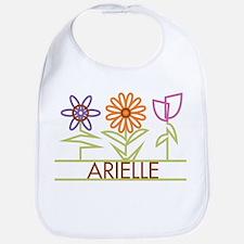 Arielle with cute flowers Bib