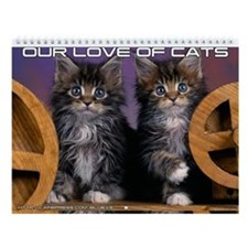 Our love of cats Wall Calendar