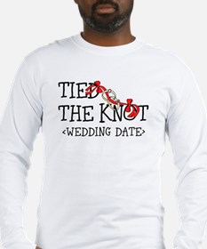 Tied The Knot (Add Wedding Date) Long Sleeve T-Shi