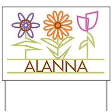 Alanna with cute flowers Yard Sign