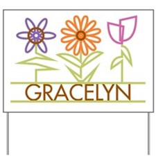 Gracelyn with cute flowers Yard Sign