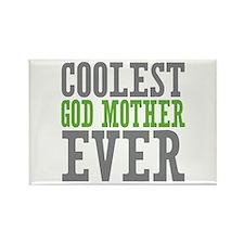Coolest God Mother Rectangle Magnet