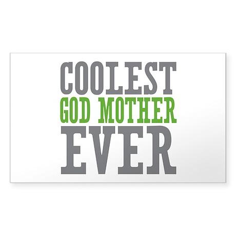 Coolest God Mother Sticker (Rectangle)