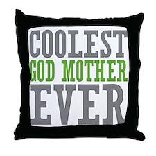 Coolest God Mother Throw Pillow
