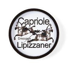 Lipizzaners -Dressage-Capriol Wall Clock