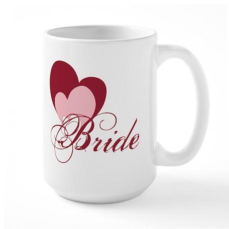 Triple Hearts Bride Large Mug