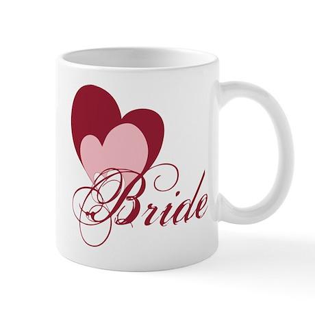 Triple Hearts Bride Mug
