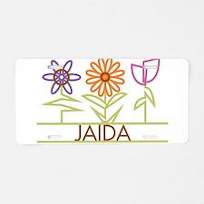 Jaida with cute flowers Aluminum License Plate