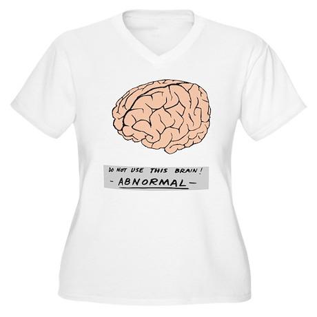 Abby Normal - Women's Plus Size V-Neck T-Shirt