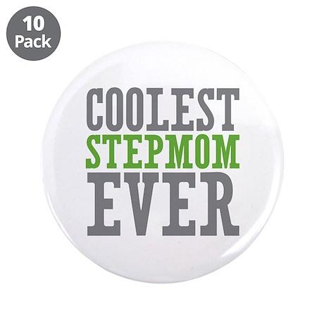 "Coolest Stepmom 3.5"" Button (10 pack)"