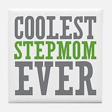 Coolest Stepmom Tile Coaster