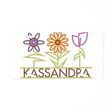 Kassandra with cute flowers Aluminum License Plate